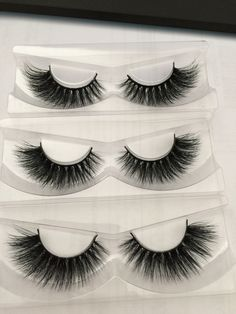 wholesale In stock new thick 3pcs/lot 100% 3D real siberian mink strip eyelashes crossing mink lashes