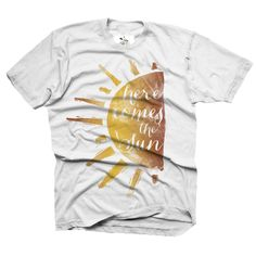 "We introduced our newest watercolor design on the first day of summer…""Here Comes the Sun"" is a nod to both the Beatles and our most favorite season, sweet summertime.  www.finfirstmb.com"
