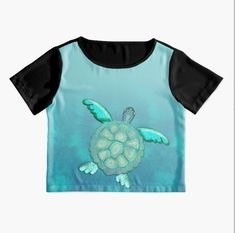 TYE AND DYE TURTLE 368 Chiffon Top Designed and sold by sana90 Pastels, Chiffon Tops, Turtle, Women's Fashion, Turquoise, Mens Tops, Inspiration, Things To Sell, Design
