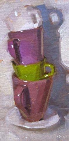 High Stack - SOLD - Original Fine Art for Sale - © Carol Marine