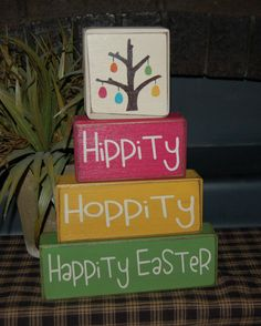 Hippity Hoppity Wood easter  print a large cute egg instead of a tree
