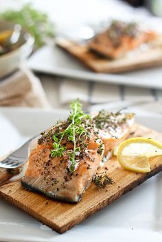 Cedar Plank Salmon / Sonia! The Healthy Foodie