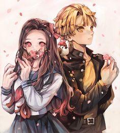 Demon Slayer: Kimetsu No Yaiba manga online Anime Couples Manga, Cute Anime Couples, Manga Anime, Anime Art, Anime Angel, Anime Demon, Demon Slayer, Slayer Anime, Tous Les Anime