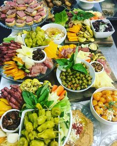 Antipasto Antipasta Platter Ideas, Heavy Hors D'oeuvres, Antipasto, Holiday Parties, Cobb Salad, Catering, Buffet, Menu, Party