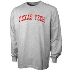 Texas Tech Red Raiders Ash Vertical Arch Long Sleeve T-shirt Ohio State  Buckeyes 943ea224331
