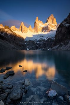 """The Prince of Gold - Cerro Fitz Roy bathing in morning light above Laguna Sucia, after a night of tentless sleep. If you'd like to experience and shoot this amazing location, check out my  '<a href=""""http://www.erezmarom.com/index.php/photography-workshops/view/giants-of-the-andes-patagonia-photo-workshop"""">Giants of the Andes</a>' Patagonia photo workshop and  <a href=""""http://www.erezmarom.com/index.php/photography-workshops/view/giants-of-the-andes-patagonia-workshop-fitz-roy-annex"""">Fitz…"""