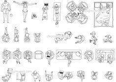 People View Top Pack - CAD Blocks, free dwg file.