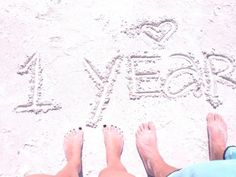 anniversary idea must do in the sand where we got married!!