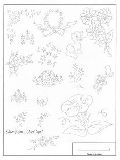 Vintage Embroidery Monday – Small Patterns from Workbasket Pattern Sheet 82
