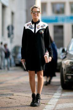 Playful shirtdress. Milan #HelenaBordon