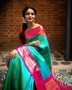 Indian Bridal Sarees, Wedding Silk Saree, Designer Silk Sarees, Latest Designer Sarees, Kanjivaram Sarees Silk, Kanchipuram Saree, Tulsi Silks, Blouse Designs Catalogue, Silk Saree Blouse Designs