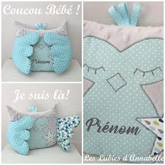 Doudou et Range pyjama Chouette / Hibou Coucou bébé Range Pyjama, Boy Baptism, Baby Boy Shower, Babyshower, Pajamas, Throw Pillows, Princess, Kids, Etsy