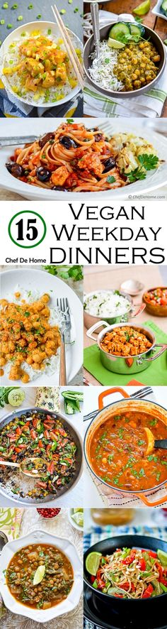 By ChefDeHome- 15 Easy Vegan Dinners Ideas for Weekdays