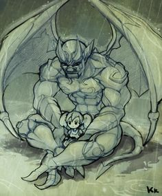 Artist says it's impressed by his story, so was I. This is a great scene.     Galio and Poppy by kukon.deviantart.com on @deviantART