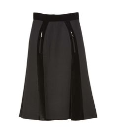 Alexander Wang Paneled Wool Mini Skirt