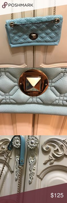 Kate spades bag Brand new Kate Spades bag. No damages. Never used. Silver chain. Pretty baby blue color. kate spade Bags Crossbody Bags