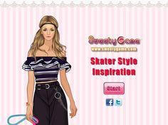 Modelka ubierze na siebie stylizacje, które czerpią pomysłem i krojem z luźnego stylu skate http://www.ubieranki.eu/ubieranki/10125/inspiracja-stylem-skate.html