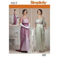 Simplicity Pattern 1517 Misses' Edwardian Style Dresses