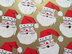 Vintage Christmas Wrapping Paper Jolly by TheGOOSEandTheHOUND