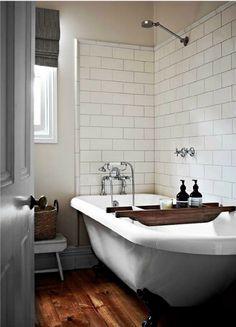 Simple bathroom, amazing tub with shower