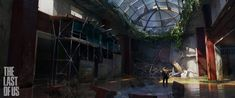 The Last Of Us - Flooded Lobby, Eytan Zana on ArtStation at http://www.artstation.com/artwork/the-last-of-us-flooded-lobby