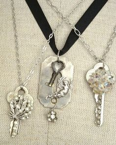 My Salvaged Treasures: Repurposed Keys and Vintage Jewels