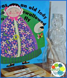 There Was an Old Lady Who Swallowed a Fly Interactive Reading Activity Interactive Activities, Reading Activities, Swallowed A Fly, Old Women, Early Childhood, Apples, Applique, Children, Lady