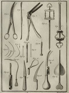 1779 Antique print of SURGICAL INSTRUMENTS. Surgery tool. 235 years old rare Diderot Encyclopaedia copper engraving
