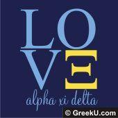 LOVE alpha xi delta