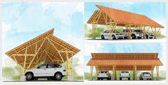 Diseño e ilustración que hicimos de estructura en #bambú Ecology Center, Bamboo House Design, Mud House, House Construction Plan, Comfortable Couch, Wooden Architecture, Bamboo Crafts, Rammed Earth, Earth Homes
