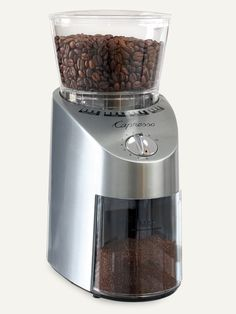 Infinity Conical Burr Grinder, Stainless Steel- For maximum aroma and flavor retention nothing beats the Infinity Conical Burr Grinder. Conical burr grinders provide the widest range of precision grinding for every type of brewing method from Turkish, espresso, drip coffee, French press, pour-over brewers and percolators. | Capresso