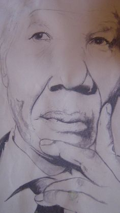 a tribute drawing of Nelson Mandela.