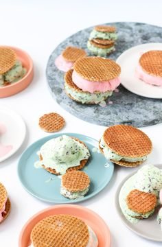 Dutch Stroopwafel Ice Cream Sandwiches