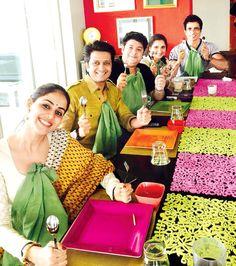 Genelia D'Souza Deshmukh, Riteish Deshmukh, Sajid Khan, Sania Mirza and Sonu Sood at Farah Khan's Eid bash. #Bollywood #Fashion #Style #Beauty