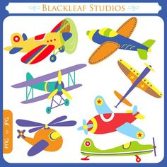 Flying High Airplanes - planes, boys, toy airplanes, aircrafts, aeroplanes - Personal and Commercial Use Clip Art Instant Download. $5.00, via Etsy.
