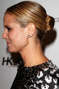 Heidi Klums French twist hairstyle