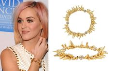 Celebrity Style - Katy Perry wearing the Renegade Cluster Bracelet.  Love this look?  Stop by...  www.stelladot.com/melissamckeon  www.facebook.com/stylebymelissamckeon