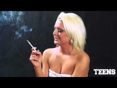 Simone Toon Power Smoking a Misty 120 Cigarette