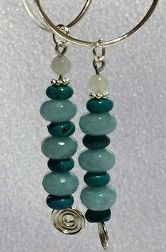 Aqua Shades Stack Earrings