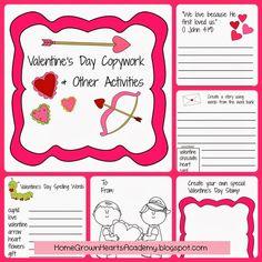 FREE Valentine's Day Copywork