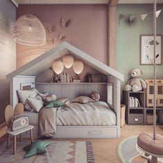 Cool Kids Bedrooms, Kids Bedroom Designs, Cute Bedroom Ideas, Room Design Bedroom, Baby Bedroom, Baby Room Decor, Girls Bedroom, Bedroom Decor, 2 Baby