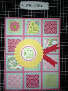 girls birthday card. I like the patchwork look.