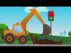 Kids Learn Heavy Machines  Dump Truck  Excavator  Cars For Kids  Vroom! ...