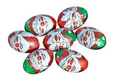 Real milk chocolate mini Santa's, wrapped in a festive foil for Christmas.