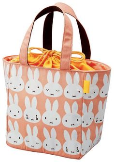 miffy Insulated lunch bag (with drawstring) MF232 (japan import)
