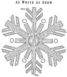 christmas snow flake maze