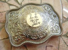 Live The Life You Love Silver Western Belt Buckle by StepOriginals