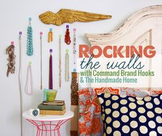 rocking the walls with command brand hooks - the handmade home