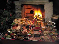 Swedish Christmas Smörgåsbord - this is pretty much what our Christmas Eve looks like!