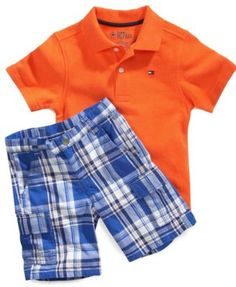 Tommy Hilfiger Kids Set, Little Boys Polo and Shorts Set